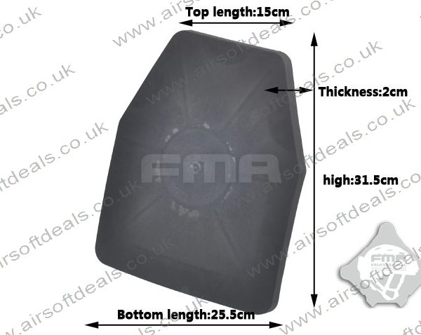 SAPI Dummy Ballistic Plate Set Black 3