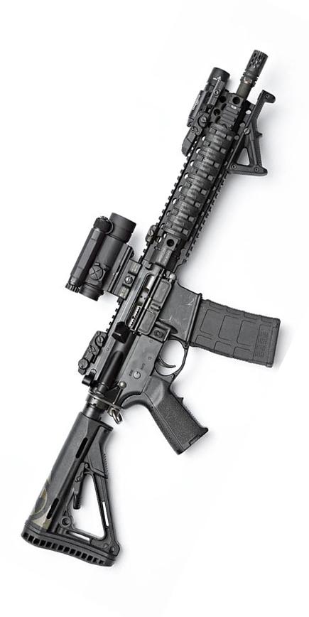 Accessories on airsoft gun