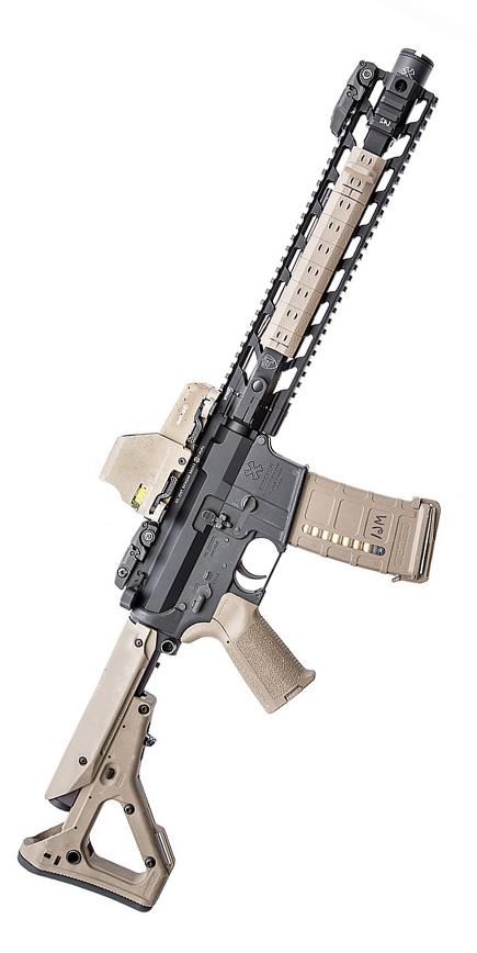Gun with custom airsoft accessories